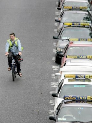 File photo: A Dublin taxi rank.