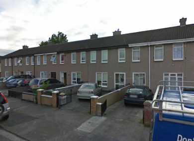 Shancastle Avenue in Dublin 22, where a 52-year-old man was shot dead this morning.