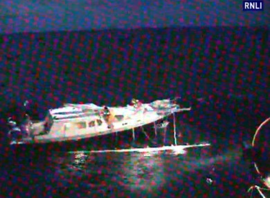A 100 ft tall ship collided with this yacht this morning, causing substantial damage