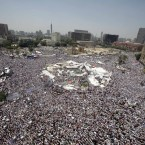 Thousands of Egyptian protesters returned to Tahrir Square despite rifts over key issues between liberal activists and Islamist groups. (AP Photo/Amr Nabil)