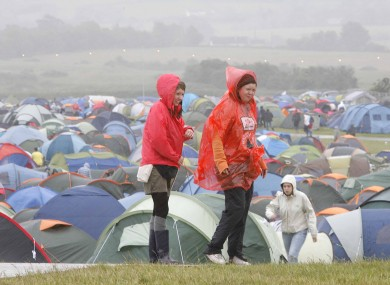 Soaked to the bone and sleeping in a tent at racecourse? Must be Oxegen...