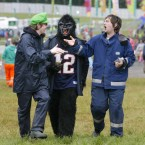 Pictured, from left, are David Colbert, Eddie Conlon and Donnie Coke from Wicklow at Oxegen 2011. (Mark Stedman/Photocall Ireland)