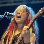 Rena Lovelis from 'Cherri Bomb' playing on the 2FM Hotpress Academy Stage today. (Mark Stedman/Photocall Ireland)