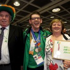 John Loughnane with his dad John and mother Mary.