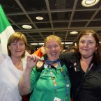 Ann Hibbit, Christine Kelly and Mary Kelly at Arrivals.