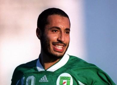 Al-Saadi Gaddafi is a former captain of the Libyan national soccer team.