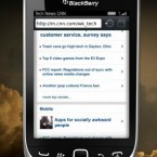 This BlackBerry features both a 3.2 inch touchscreen display, and a slide out QWERTY keyboard. Image: http://us.blackberry.com/