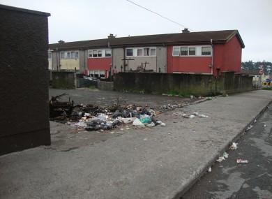 Killiney Heights in Knocknaheeny in Cork City, a litter black spot in the latest litter survey by IBAL