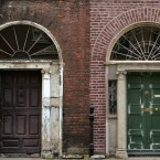 Derelict Georgian doors on Henrietta Street on the north side of Dublin city (Sam Boal/Photocall Ireland)
