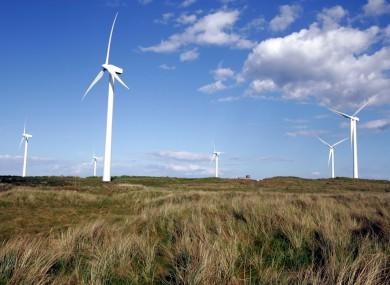 A wind farm in Wexford