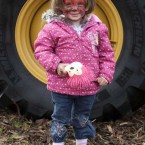 Kate Mulvihill, 2, enjoys the scenes in Athy.   Peter Houlihan/Photocall Ireland