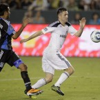 Our own Robbie Keane plays against against San Jose Earthquakes' Steven Beitashour <span class=