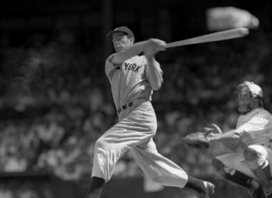 Joe DiMaggio in full, majestic flow way back in 1941.