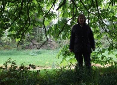 Undated image of Teresa Treacy, 65, on her land.