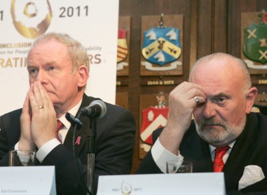 Martin McGuinness and David Norris yesterday