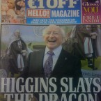 The Irish Daily Mail's special election edition chronicles the battle between the Labour leader, and Dragon Seán Gallagher.