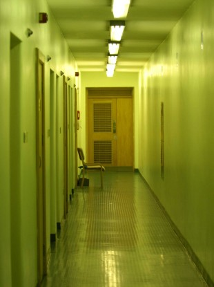 Empty corridors of the Dochas Centre, Mountjoy Prison.