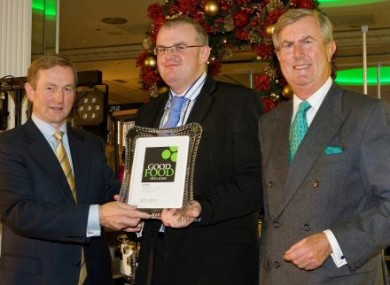 The Taoiseach with representatives of Hastings Hotels, winner of Newcomer of the Year at the Good Food Ireland awards on Tuesday.