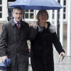 Presidential candidate Gay Mitchell and his wife Norma arrive at Dublin Castle. Image: Laura Hutton/Photocall Ireland
