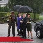 President Michael D Higgins and his wife Sabina arrive back to Áras An Uachtaráin to start his seven-year term as President of Ireland. Image: Photocall Ireland/GIS