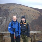 Mark Pollock, left, hiking with a friend before his accident.