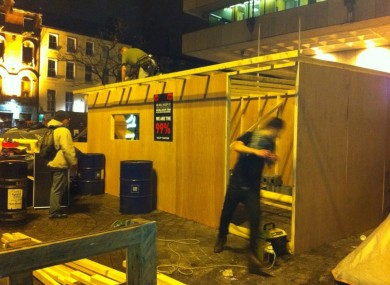 The kitchen was erected on Thursday.