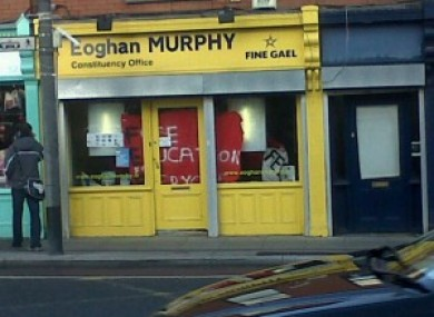 Student protesters occupying Eoghan Murphy TD's office in Ranelagh today.