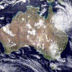NASA satellite image of Tropical Cyclone Yasi approaching Queensland, Australia on 2 February, 2011. (AP Photo/NASA - Jeff Schmaltz/PA Images)