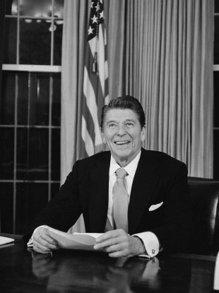 How did President Reagan's Soviet strategy help end the cold war?