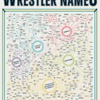 """This is a must-have for every wrestling fan of the 80s/90s. The retro 18"""" x 24"""" print celebrates The Million Dollar Man Ted Dibiase, The Portuguese Man O' War Aldo Montoya and 380 more of the all-time greats by arranging them taxonomically.  Price: €20 from www.popchartlab.com"""