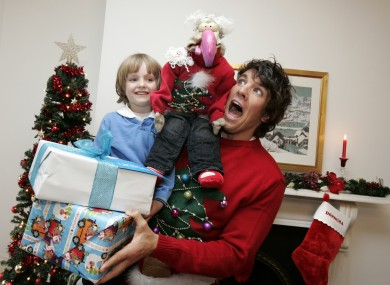 Bobby Kennedy, 5, Dustin and Donncha O'Callaghan help launch UNICEF's 'Say No to Naff' Christmas appeal.
