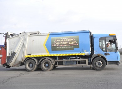 A Greyhound Waste truck in Clondalkin Industrial Estate