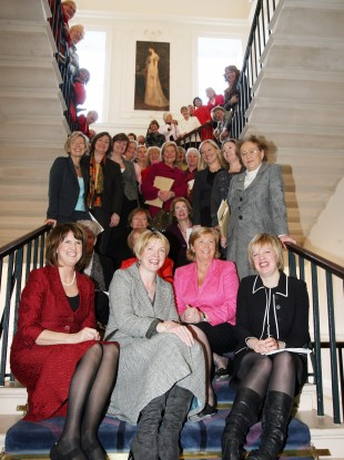 Some past and present female members of the Oireachtas on the 90th anniversary (in 2008) of women's right to vote in Ireland