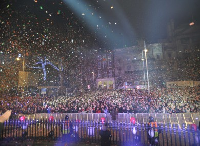 The crowd at College Green last night - Leo Varadkar reckons we can do better next year.