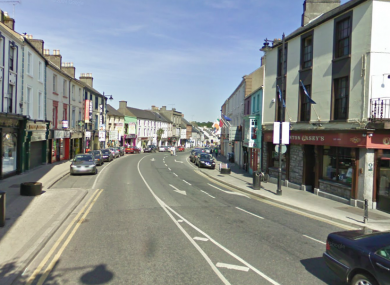 File photo of Pearse Street in Mullingar, Co Westmeath, where Andrew Dolan (20) was assaulted before Christmas.