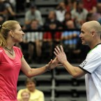 Graf and Agassi<span class=