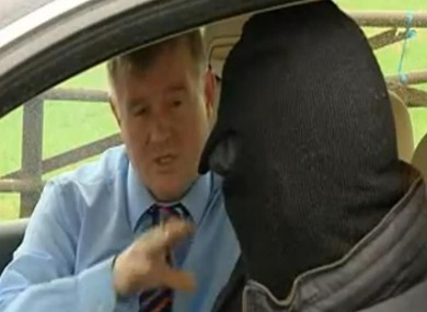 TV3 correspondent Paul Byrne interviews a 'prominent drug dealer'