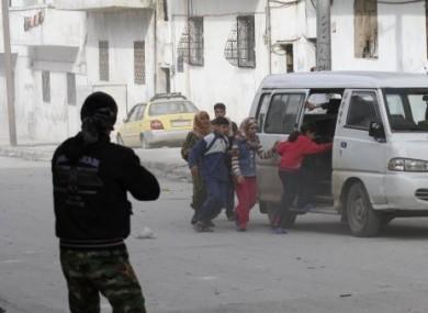 The city of Idlib yesterday.