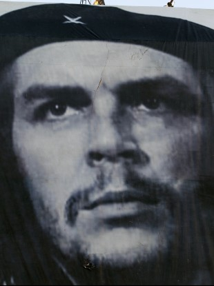 The iconic image of Che Guevara by Cuban photographer Alberto Korda that was used by Jim Fitzpatrick for his portrait in 1968.