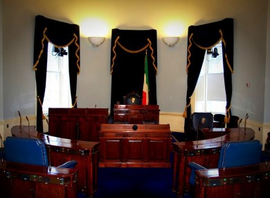 The Seanad chamber: Members have voted 31-20 against a proposal which would require independent TDs and Senators to vouch for how they spend their 'leaders' allowance'.