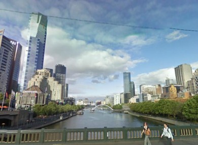 General view of the Yarra River, where the body was found