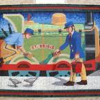 One new mosaic panels at Bray Dart station (Via mural-to-mosaic.blogspot.com)