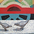 Detail of the mosaic work carried out at Bray Dart station. (Via mural-to-mosaic.blogspot.com)