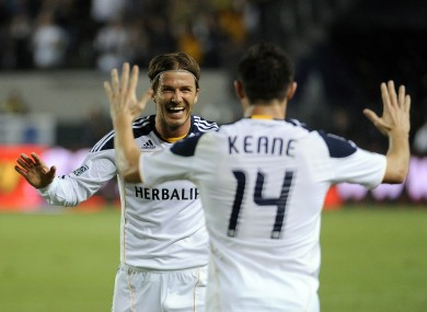 Robbie Keane and David Beckham are hungry for more success with L.A Galaxy