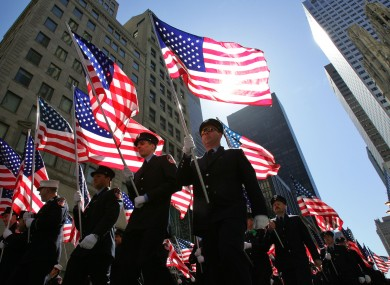 Members of the New York City Fire Department march up Fifth Avenue during the annual St. Patrick's Day Parade 2006 in New York.