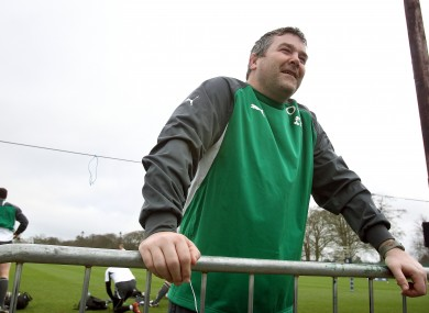 Stand-in forwards coach Anthony Foley at Carton House.