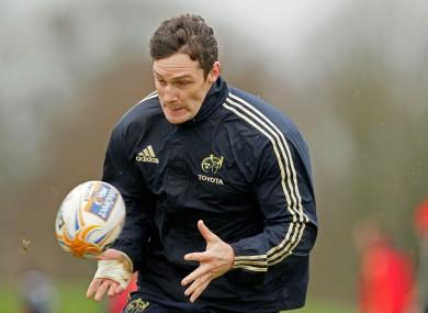 David Wallace in training at UL this week.