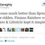 The jockey gave you plenty of warning, recommending Sprinter Sacre and Finians Rainbow after Christmas.
