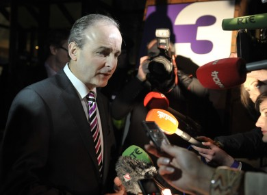 FF's Micheál Martin is the only leader of the four main political parties to appear in tomorrow's debate.