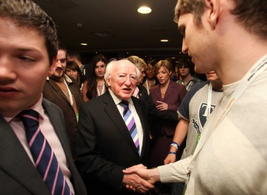 Michael D Higgins at the USI Congress yesterday